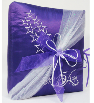Stars Quinceanera Guest Book, Photo Album AK-304A
