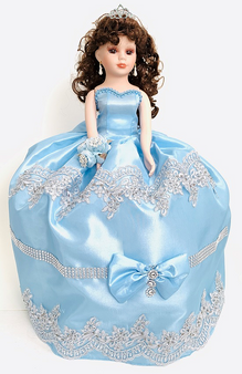 Baby Blue Quinceanera Doll, available in every color