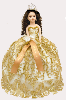 Gold Quinceanera Doll, available in every color