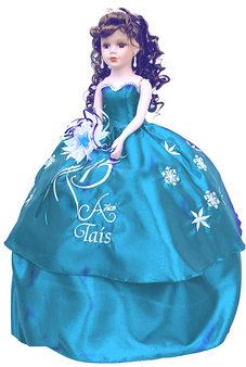 Winter Wonder Quinceanera Doll AK-318DB
