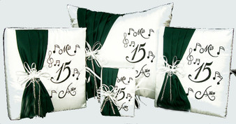 Musical Notes Quinceanera Set, 6 Items available in any color