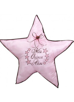 Stars Quinceanera Pillows Set. One kneeling pillow and one tiara pillow
