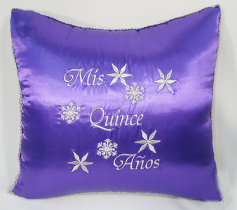 Winter Quinceanera  Pillows Set. Two pillows