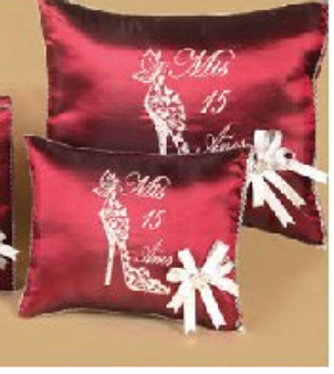 Quinceanera Pillow Set. Two pillows