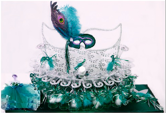 Peacock Mask Toasting  Set, available in all colors