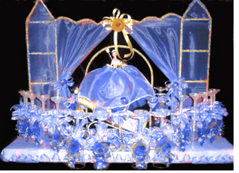 Castle Quinceanera Toasting Set, available in any color