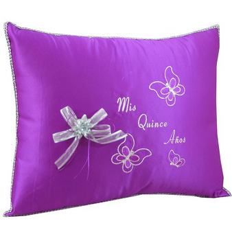 Butterflies Quinceanera  Pillows Set. Two pillows