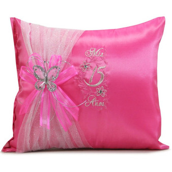 Fuchsia Quinceanera Pillows Set. Two Pillows