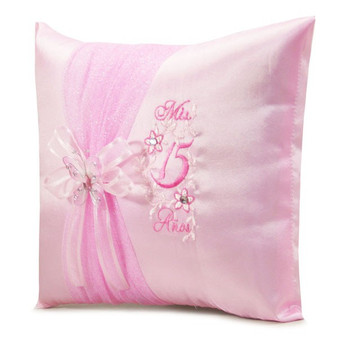 Pink Quinceanera Pillows Set. Two pillows