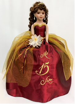 Wine Quinceanera Doll available in all colors