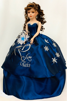 Winter design Quinceanera Doll