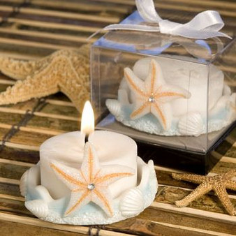 Starfish Design Favor Saver Candle Favors (as low as $ 1.89)