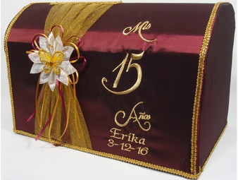 Wine Quinceanera Money Box,  available in all colors