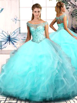 Aqua Quinceanera Dress  QSJQDDT2073009