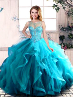 Aqua Quinceanera Dress  QSJQDDT2079002