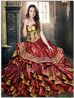 Wine Quinceanera Dress QSXFQD1397