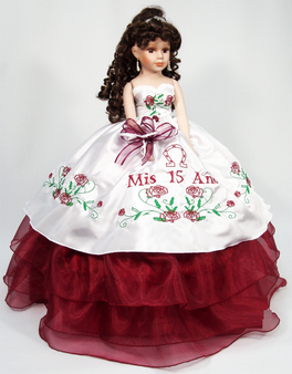 "Charra design Quinceanera Doll, 21""  Tall available in many colors"