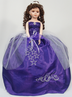 "Stars Quinceanera Doll, 21"" available in any color"