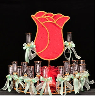 Rose Quinceanera Toasting Set, available in all colors