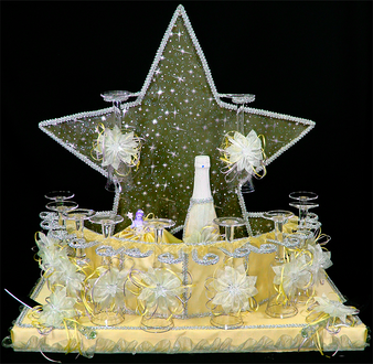 Star Quinceanera Toasting Set  available in all colors