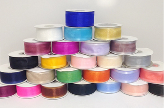 "1.5"" Organza Ribbon with Satin Edge  - Pack of 5 Rolls"