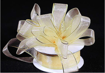 "1.5"" Organza Ribbon with Metallic Edge  - Pack of 5 Rolls"