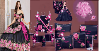 Charra Quinceanera Package   available in all colors up to 12 Items