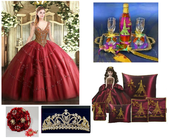 Paris Quinceanera Package available in all colors  available in all colors up to 12 Items