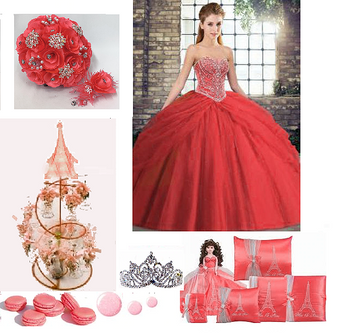 Paris Quinceanera Dress Package