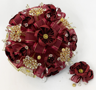 Wine Quinceanera Flower Bouquet , available in all colors