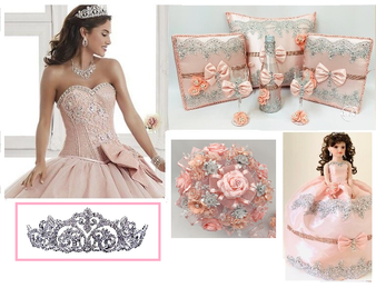Pink Dress Quinceanera Package  available in all colors available in all colors up to 12 Items