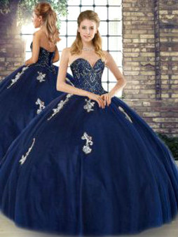 Blue Quinceanera Dress QSJQDDT2129002