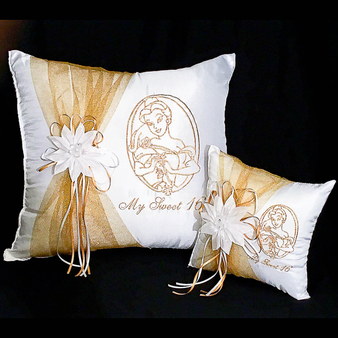 Beauty and the Beast Quinceanera Pillows Set, Two Pillows