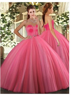 Coral Quinceanera Dress QSJQDDT1690002
