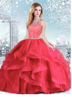 Coral Quinceanera Dress  QSJQDDT959002-3