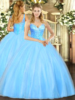 Blue Quinceanera Dress QSJQDDT1075002