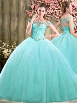 Aqua Quinceanera Dress QSJQDDT2067002