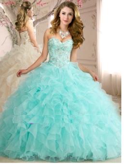 Aqua Quinceanera Dress QSXFQD1147