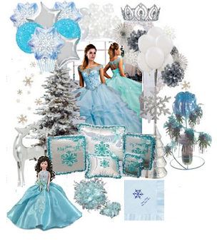 Winter Quinceanera Dress Package