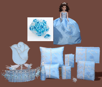 Baby Blue Quinceanera  Package available in every color