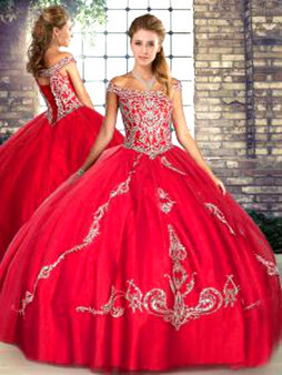 Red Quinceanera Dress QSJQDDT2103002