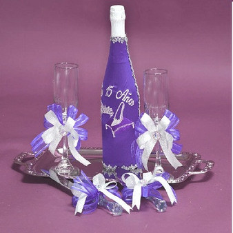 Princess Quinceanera Toasting Set, available in all  colors
