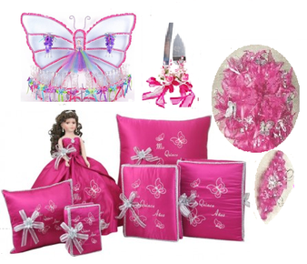 Butterfly Quinceanera Package QS-PBQP