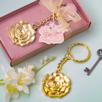 Gold Rose Keychain Favor (as low as $ 1.39)