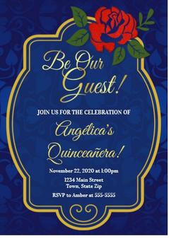 Quinceanera Invitation QS-IN57 set of 50