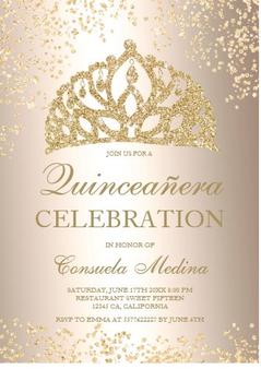 Quinceanera Invitation QS-IN48 set of 50