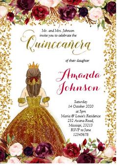 Quinceanera Invitation QS-IN42 set of 50