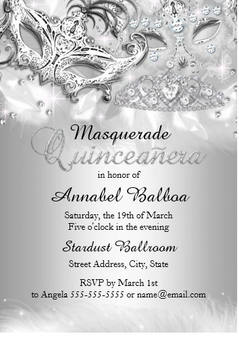 Quinceanera Invitation QS-IN41 set of 50