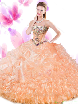 Peach Quinceanera Dress QSJQDDT769002-1
