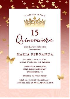 Quinceanera Invitation QS-IN38 set of 50